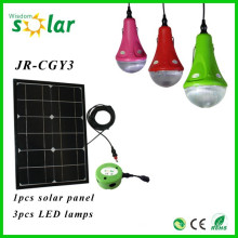 Kit de iluminación solar hogar 2015 CE nuevo con luces LED y kit de iluminación solar USB cargador JR-SL988