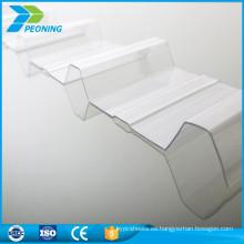 Único claro ondulado policarbonato paneles de invernadero hoja de precios