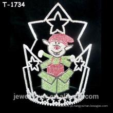 Bela dupla de cristal surpresa surpresa de Natal coroas