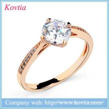China yiwu fabricante anéis de jóias de titânio ouro anel de diamante preço