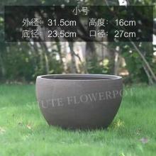 Pot de fleur de nénuphar de jardinière de peinture à la main personnalisée
