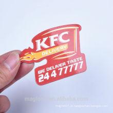 2016 a maioria de ímãs populares do refrigerador de papel da propaganda de KFC para a promoção