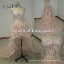 PP2466 nuevo halter del envío del lfree del arriva falda rebordeó el vestido de noche 2011 del cordón