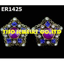 charm designer stud rhinestone earrings