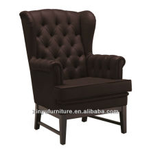 Internal solid wooden arm chair upholstered XYD424