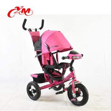 Trike padrão europeu de alta qualidade com música e luz / material de metal brinquedo triciclo pintura de ys para crianças