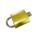 Metal Golden 16gb Lock Usb Flash Drive