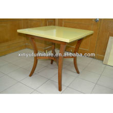 Solid wood legs and marble top coffee table XT6898
