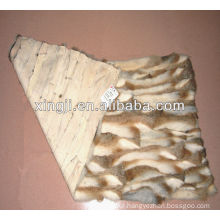 Chinese hare rabbit belly fur plate