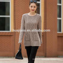 woman's cashmere thick knitting sweater