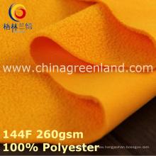 100%Polyester Knitted Polar Fleece Fabric for Warm Coat Textile (GLLML391)