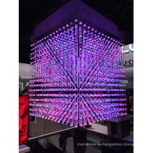 Crystal LED Ball String Cambio de color Control DMX
