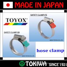 Aço inoxidável, braçadeira de segurança. Feito no Japão pela TOYOX. Longo tempo de vida e resistentes a ferrugem (braçadeira de corda)