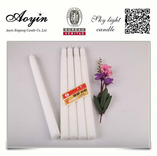 55g Fluted Paraffin Wax Household White Candle