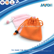 Double drawstring jewellery pouch