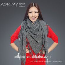 Unique design wholesale Soft Feel 100% wool triangle scarf