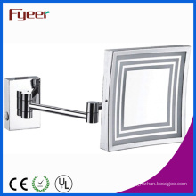Fyeer Single Side Wall Mounted LED Square Cosmetic Mirror