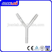 Tubos de conexão de vidro STAR JOAN LAB com fornecedor de ferrolhos serrilhados