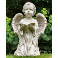White Marble Little Angel Statue For Sale