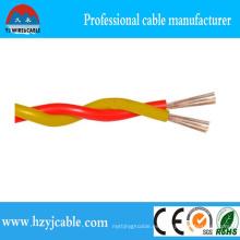 Cable de par trenzado resistente al fuego Cable de cobre del conductor del conductor del cobre