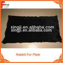 60X120cm Grade A dyed rabbit fur plate