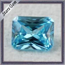Aqua Blue Принцесса Cut Синтетический CZ Gemstone