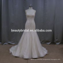 Crystal sequin ready made wedding dresses 2015 mermaid hongkong wedding dress