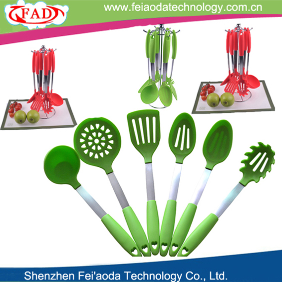6pcs per set silicone kitchen utensils