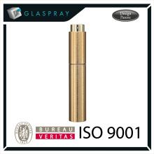 15ml LUNA Slim CNC Brushed Gold Twist up Recharge Parfum Pulvérisateur