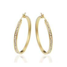 Round gold stud earrings for women,gold crystal earring sale