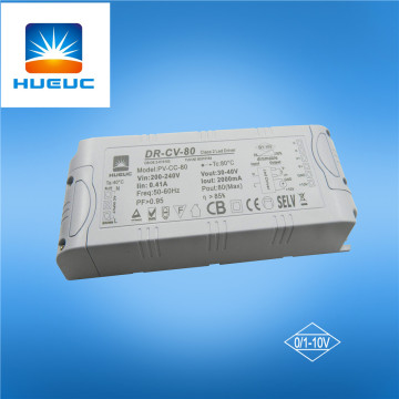 12V 5.5A 66W 0-10V dimmable led driver