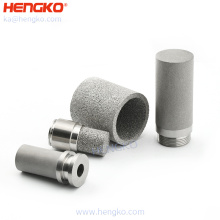 HENGKO 316L metal powder sintered porous stainless steel filters corrosion resistance withstand voltage stainless filter