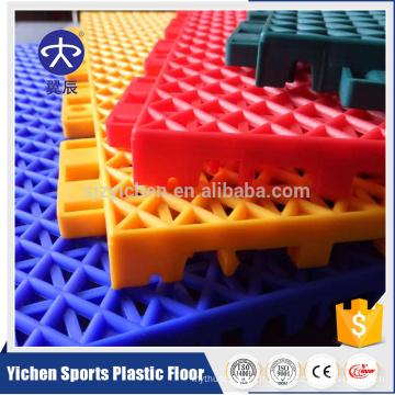 Tuiles extérieures en plastique de pp pour le terrain de basket-ball, plancher de verrouillage de PP