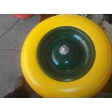 Rueda de espuma de PU de alta calidad más vendidos 400-8 16 pulgadas