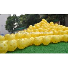 Venda quente nova marca ar fluir Golf bola prática plástico perfurado por atacado
