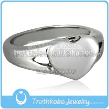 Bagues spéciales de conception avec des bijoux de crémation bijoux de coeur de souvenir d'urne de cendre