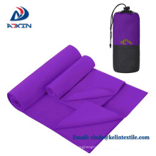 Factory cheap quicky drying yoga towel microfiber