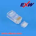 Cat6 de enchufe 8P8C transparente