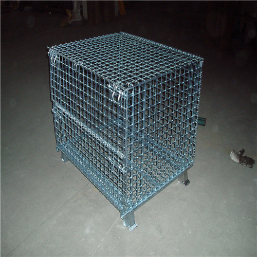 Floding stackable wire container