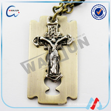 china supplier custom shape christian dog tag