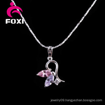 New Fashion Silver Simple Design Gold Pendant for Girls