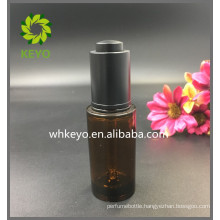 30ml Hot sale high quality make up packing amber colored empty cosmetic thick wall pet plastic dropper bottle