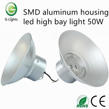 Cubierta de aluminio de SMD llevó la luz de la bahía alta 50W