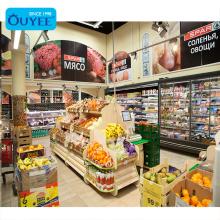 High End Fashion Giant Hypermarket Rack Shelf Shelving Fruits And Vegetables Supermarket Shelf