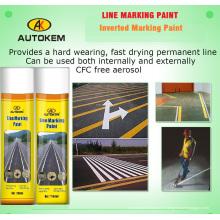 Peinture de marquage de ligne d'aérosol, Peinture de marquage routier, marqueur de ligne de 750 ml