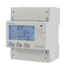 Medidor de energía de riel DIN trifásico de fácil instalación