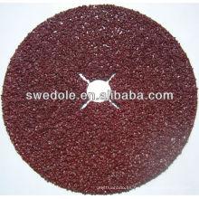 Discos de fibra de pulido de lijado de óxido de aluminio para amolar metal y madera