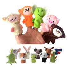 Varios tipos de juguetes de marionetas de mano