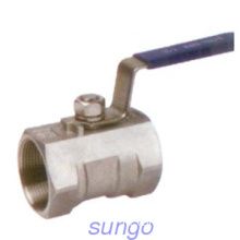 1PC tubuh Ball Valve Manual operasi