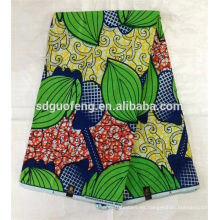 Nuevo diseño 100% algodón cera africana tela impresa 24 * 24 72 * 60